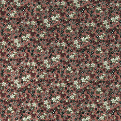 Cotton dark rose with small flowers